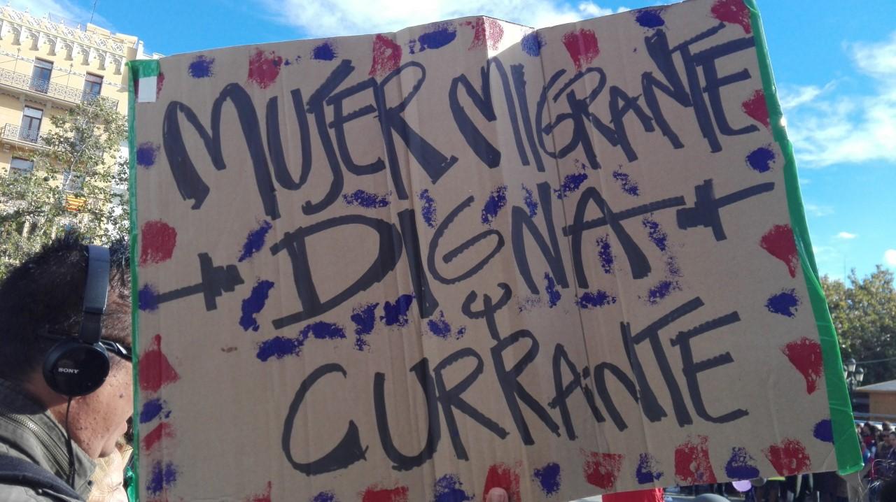 Cartel Mujeres Migrantes