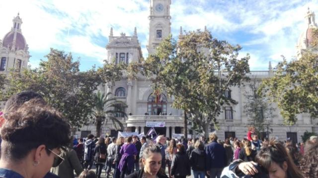 LLegada a la Plaza del Ayuntamiento